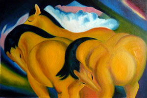 Yellow Horses by Catherine Bourgeois