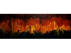 Forest Fires - Oils on canvas board SOLD